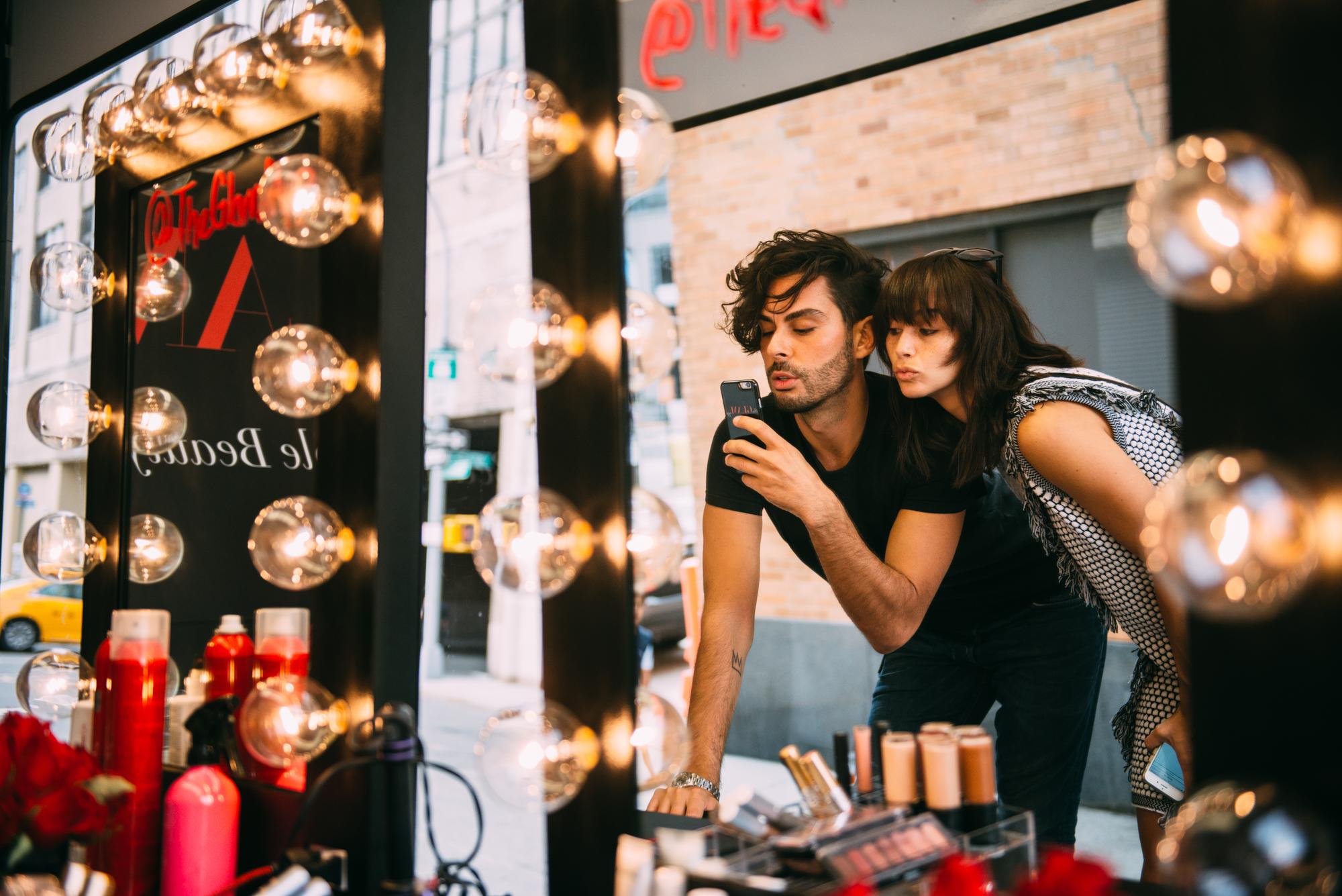 Joey Maalouf and Cara Santana