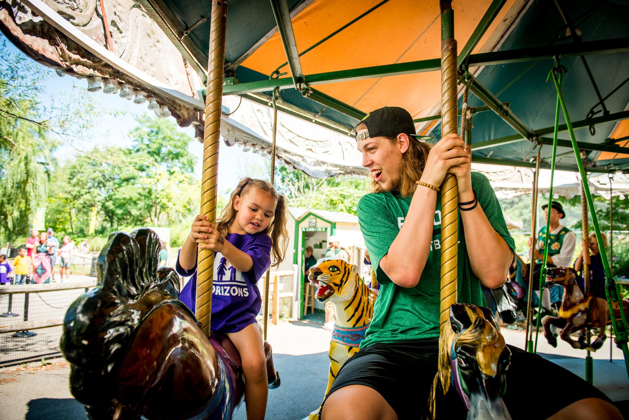 Kelly Olynyk at Franklin Park Zoo