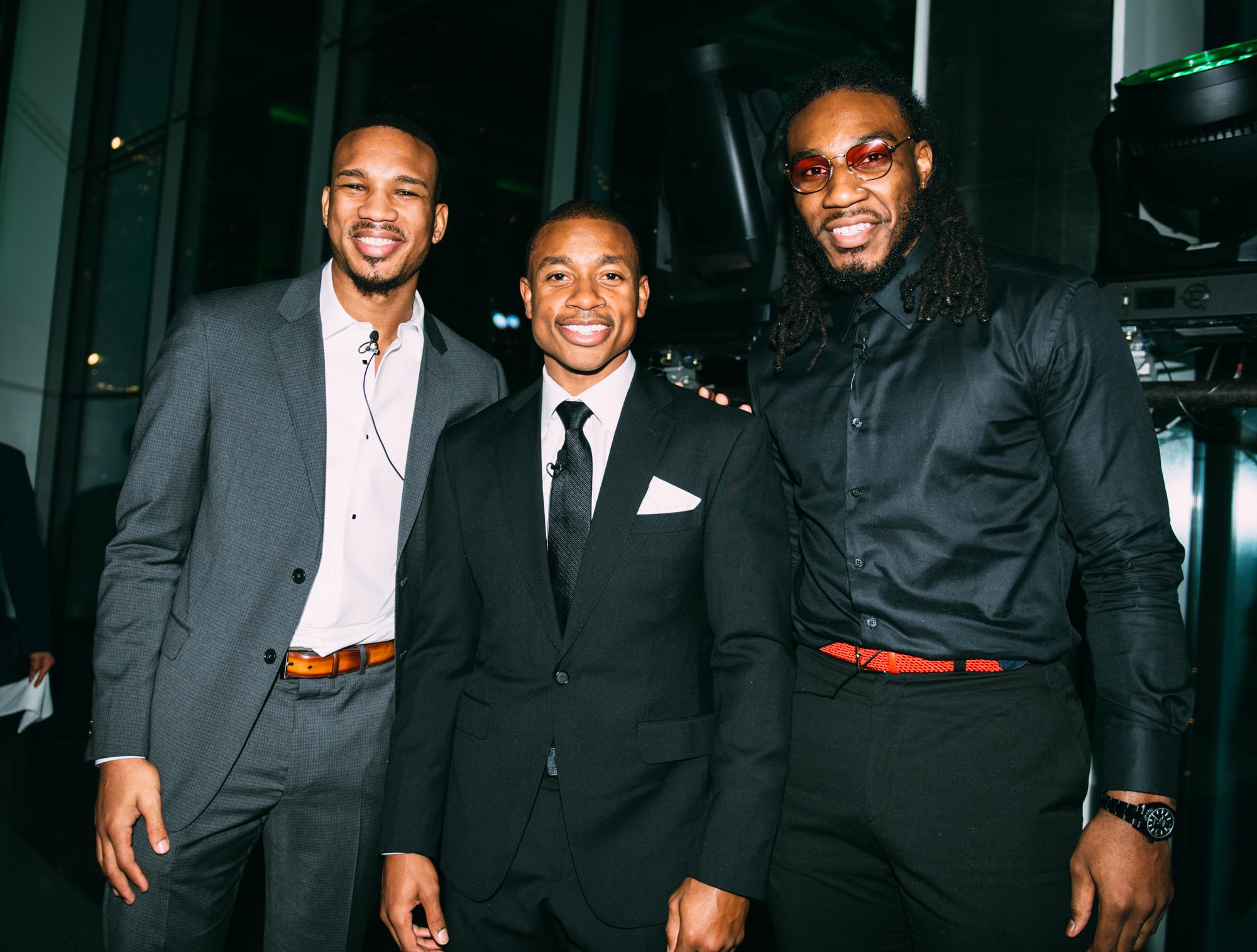 Avery Bradley, Isaiah Thomas and Jae Crowder