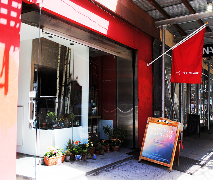Red Flower Shop on Prince Street