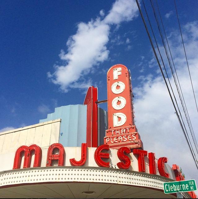 The nostalgic sign of Atlanta's Majestic Diner // photo courtesy of li5aluna via Instagram