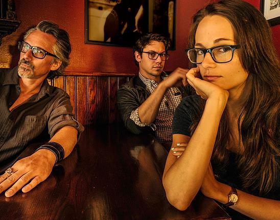 The cast of SCHOOLED: Quentin Maré, Stephen Friedrich, and Lilli Stein. Photo by Darren Cox.