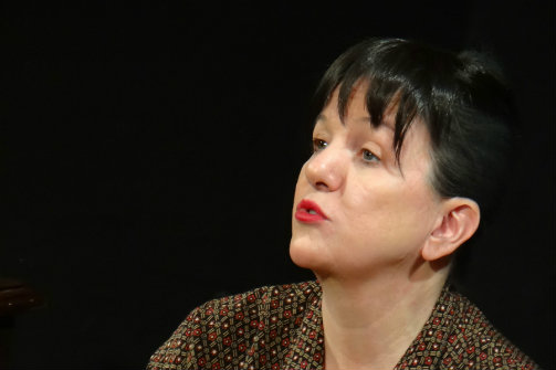 Margot Avery as Dorothy Parker in  The Portable Dorothy Parker /  Photo by Fredda Tone