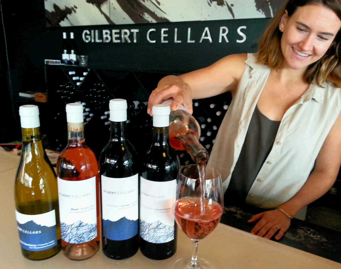 A wine tasting at Gilbert Cellars / photo by Michael Mackie
