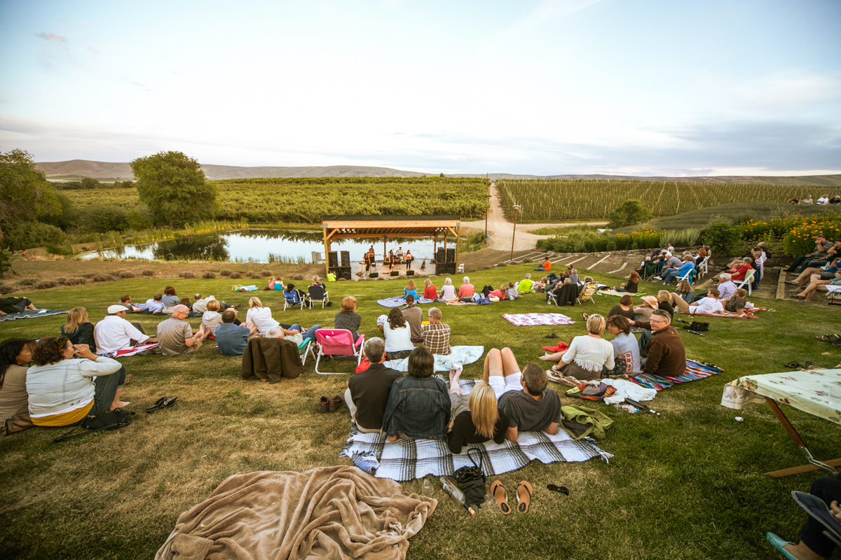 Music at the Hackett Ranch amphitheater / photo courtesy of Gilbert Cellers