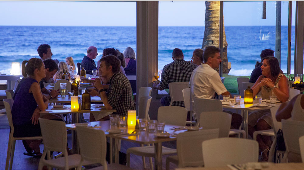 Bistro C looking out over Noosa Beach in Australia / photo courtesy of the Bistro C website