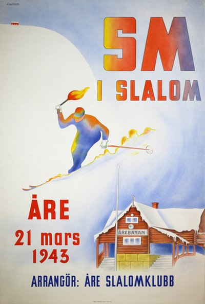 Vintage Åre poster. Available  here .