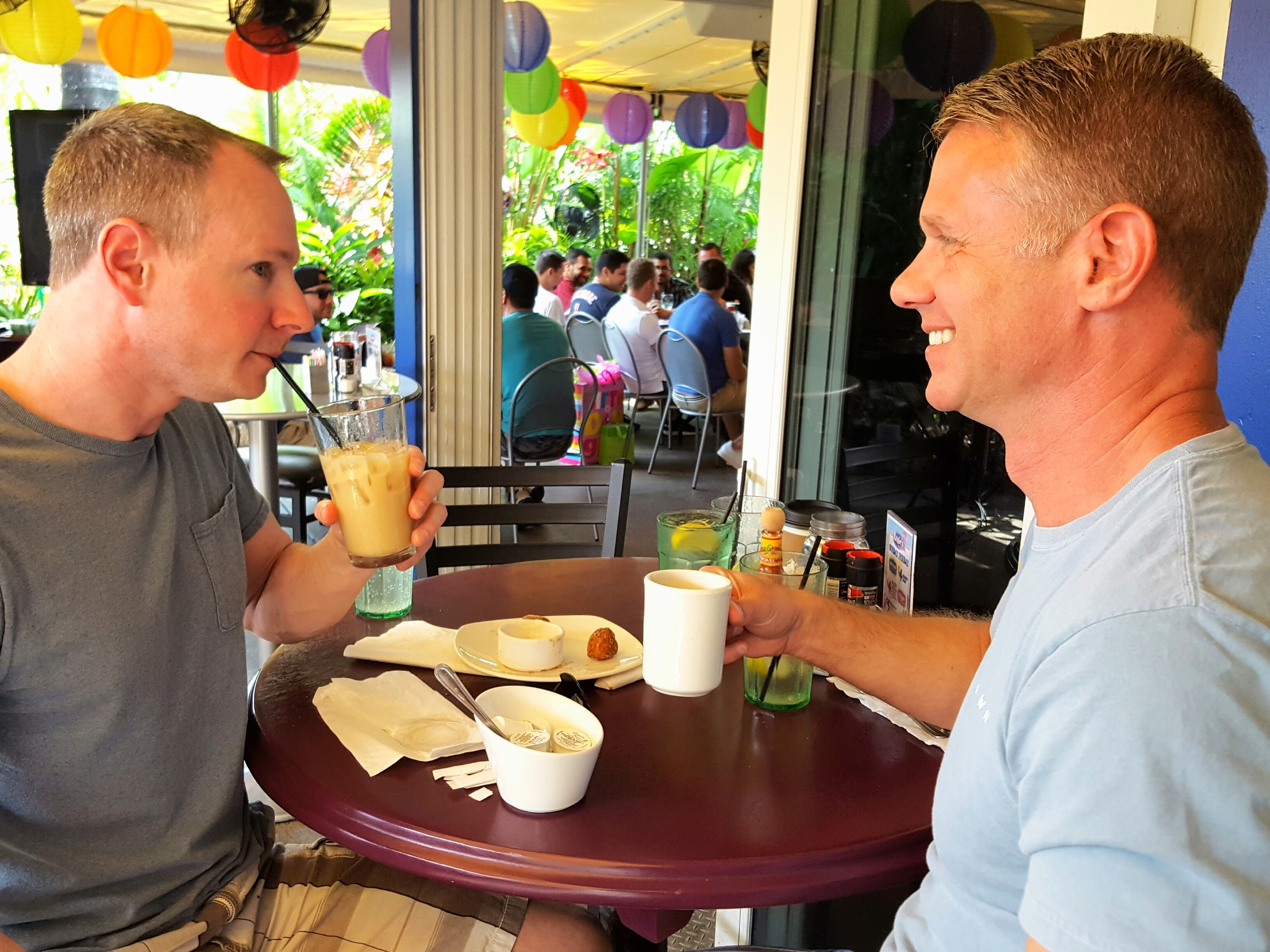 Dave Coon and Brett LaGrow -- who first locked eyes on each other five years ago at Rosie's -- hit up the infamous Sunday brunch.