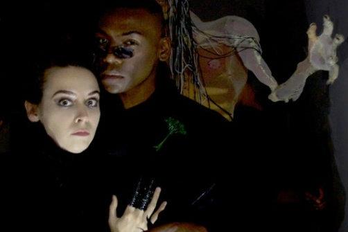 Jane Bradley and Demetrius Stewart in  Phantasmagoria. Photo by Theo Cote.