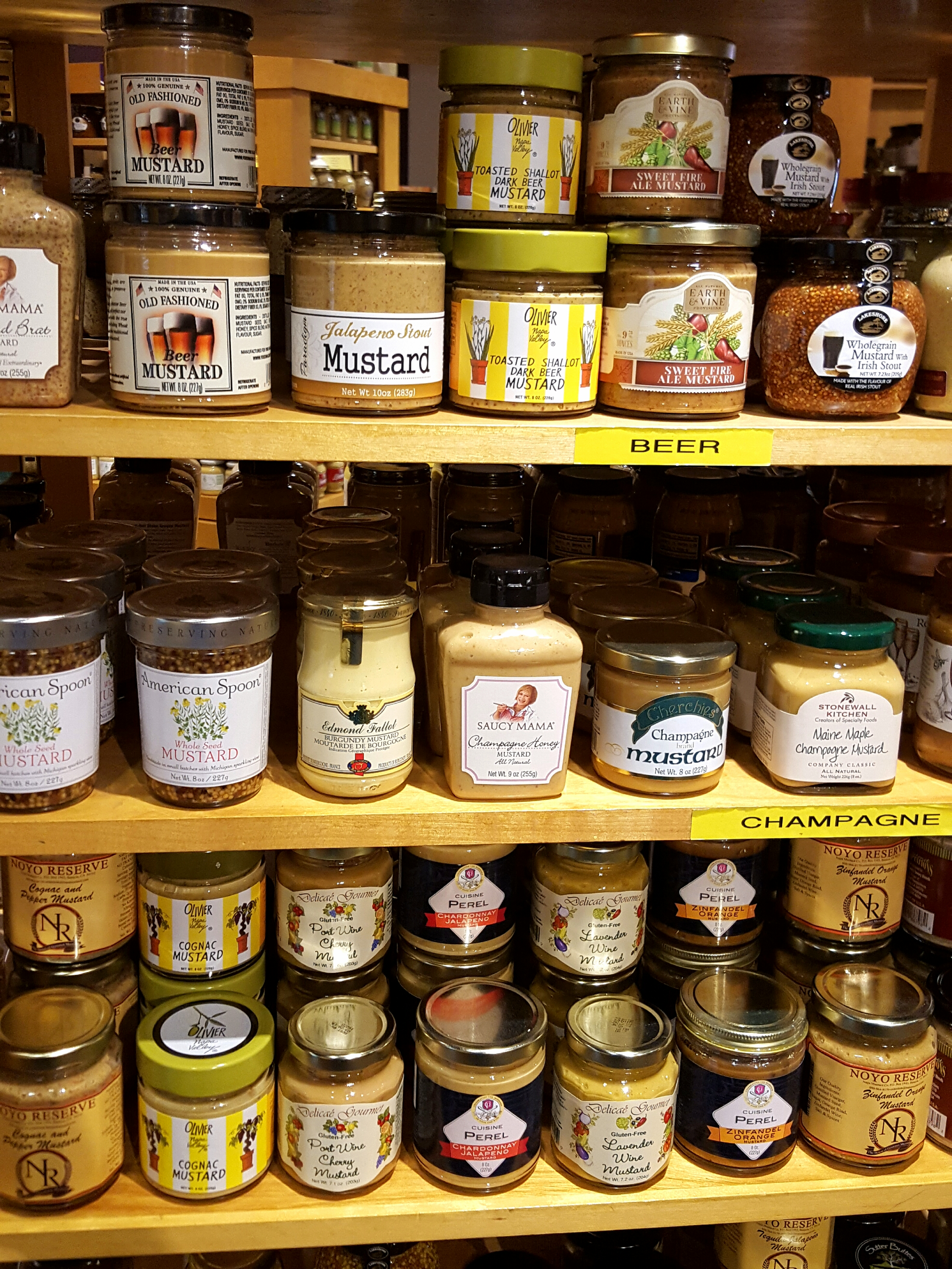 Mustards in the museum gift shop