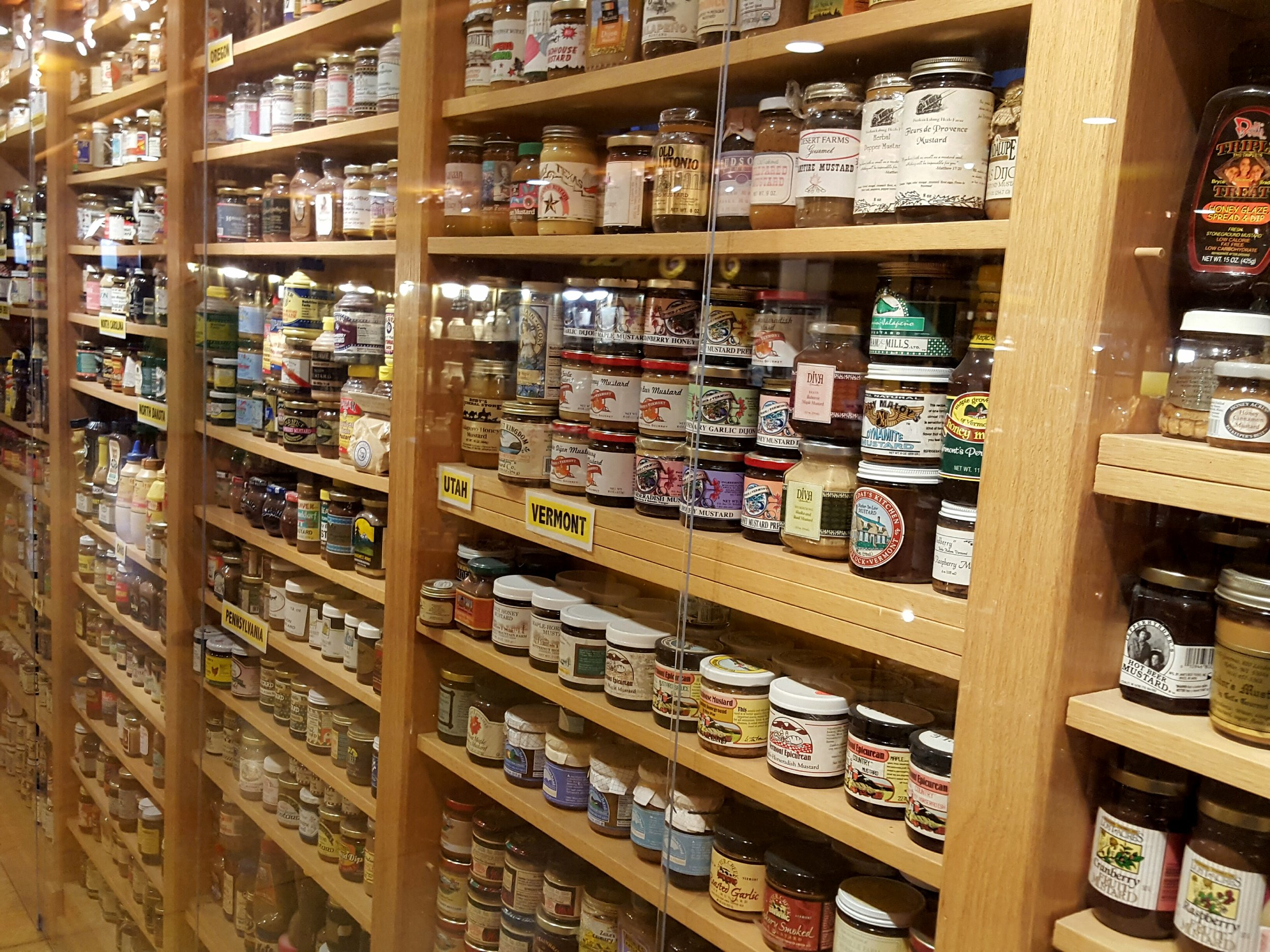 6,000 different mustards from around the world.