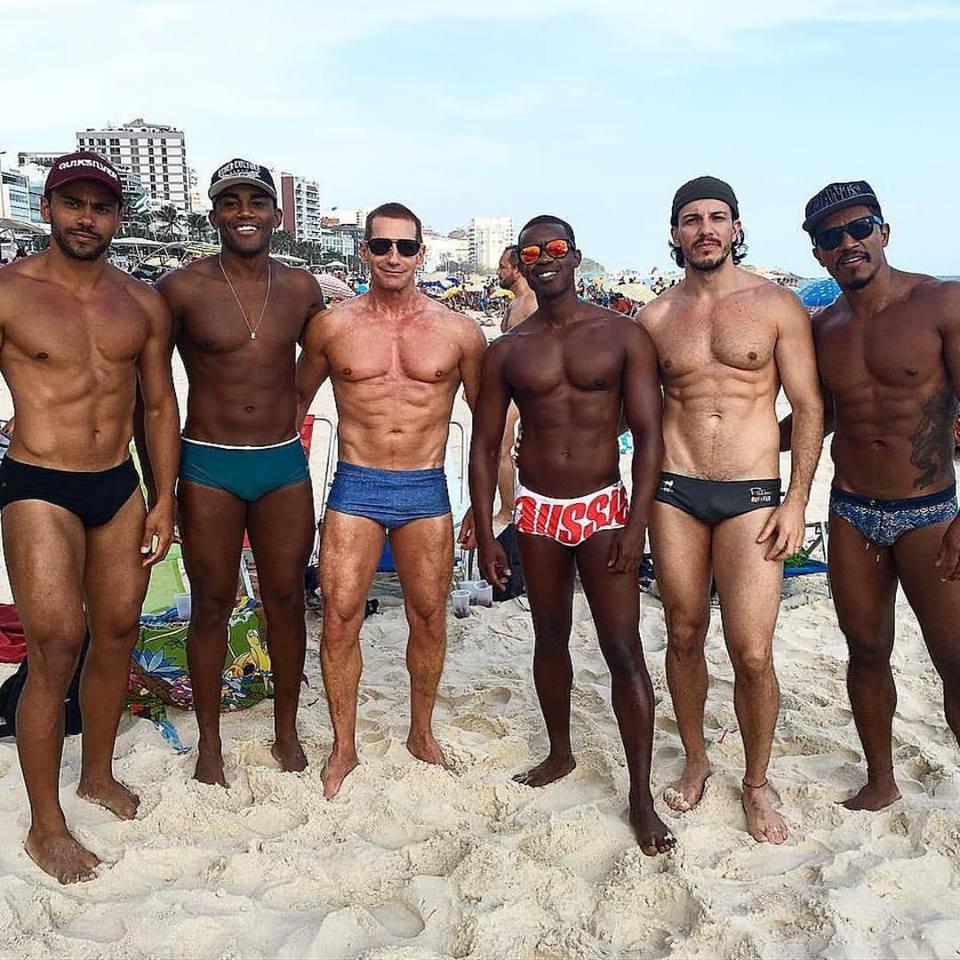Friends on Ipanema Beach, Rio 2016