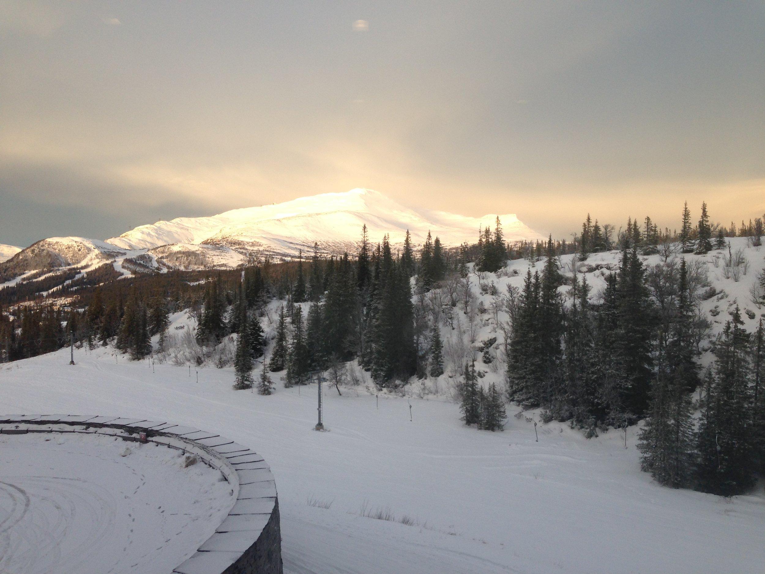 View to Åreskutan mountain from Copperhill Mountain Lodge