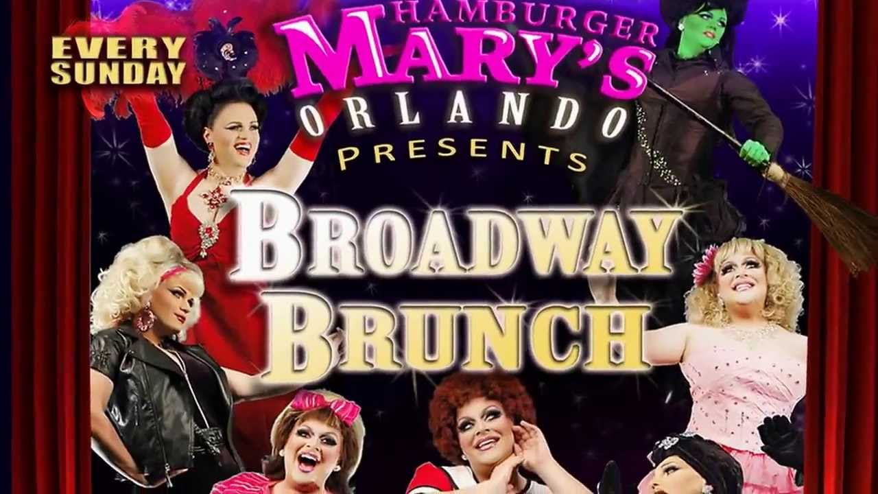Poster for Hamburger Mary's Broadway Brunch