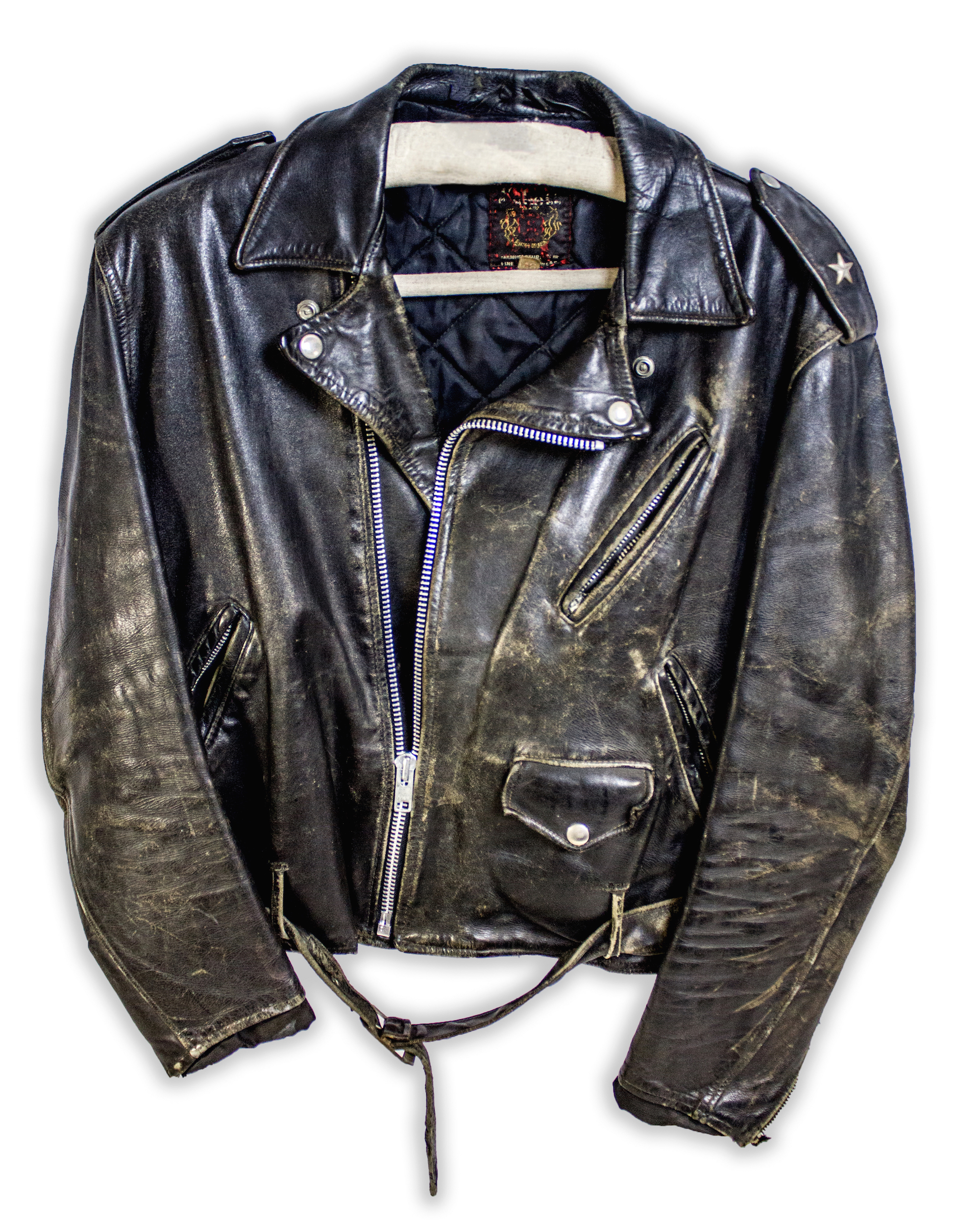 John Mellencamp wore this leather jacket throughout the 1980s. Source: Rock & Roll Hall of Fame