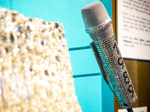 Taylor Swift's custom 1989 microphone from her recent world tour. Source: Rock & Roll Hall of Fame / Carl Harp