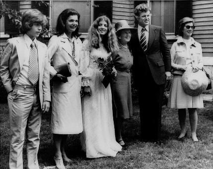 Jacqueline Kennedy in Concord, MA (1975).