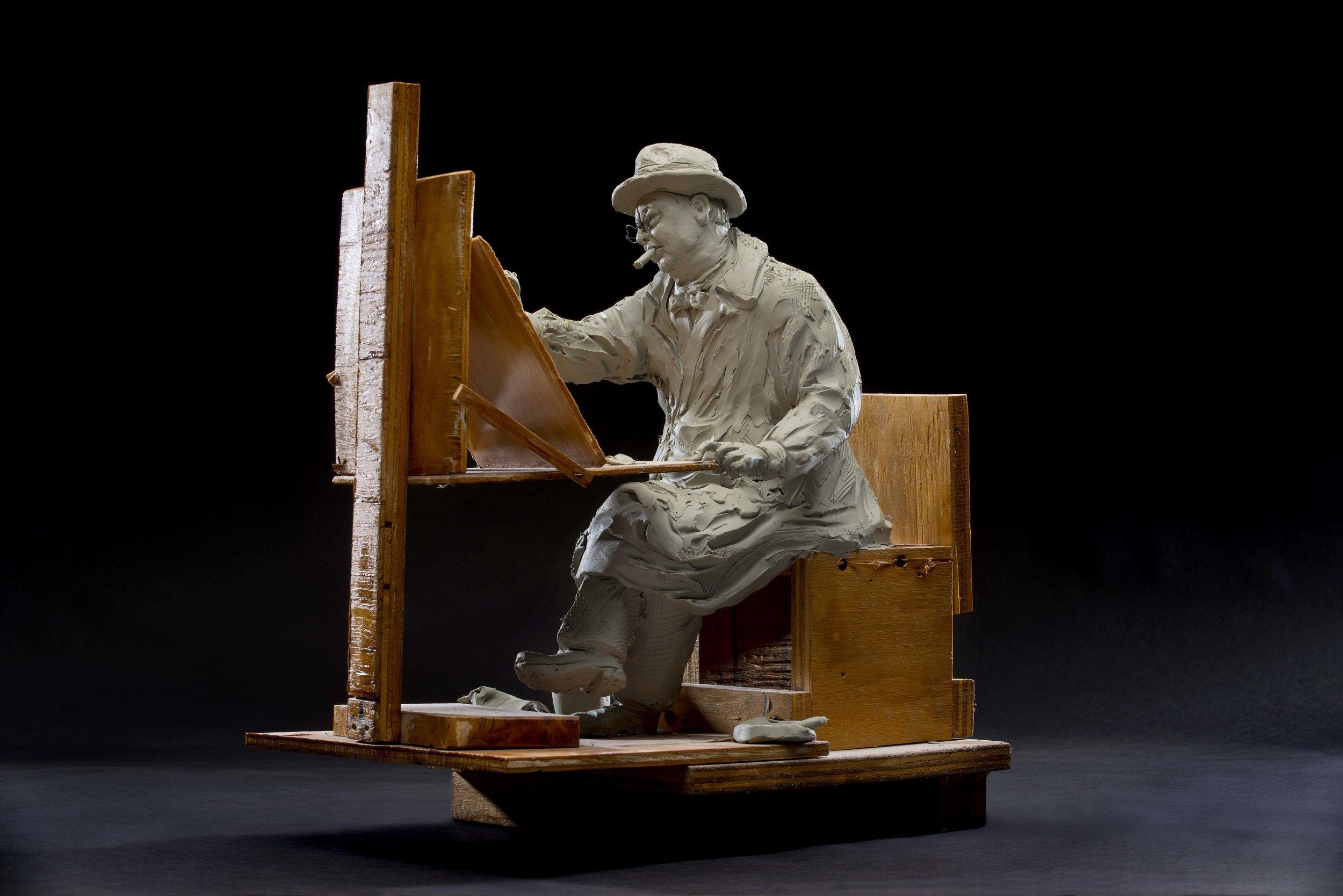 """ Maquette  for Churchill Painting""by Seward Johnson, © 2016 The Seward Johnson Atelier, Inc. Photo by Kenny Ek."