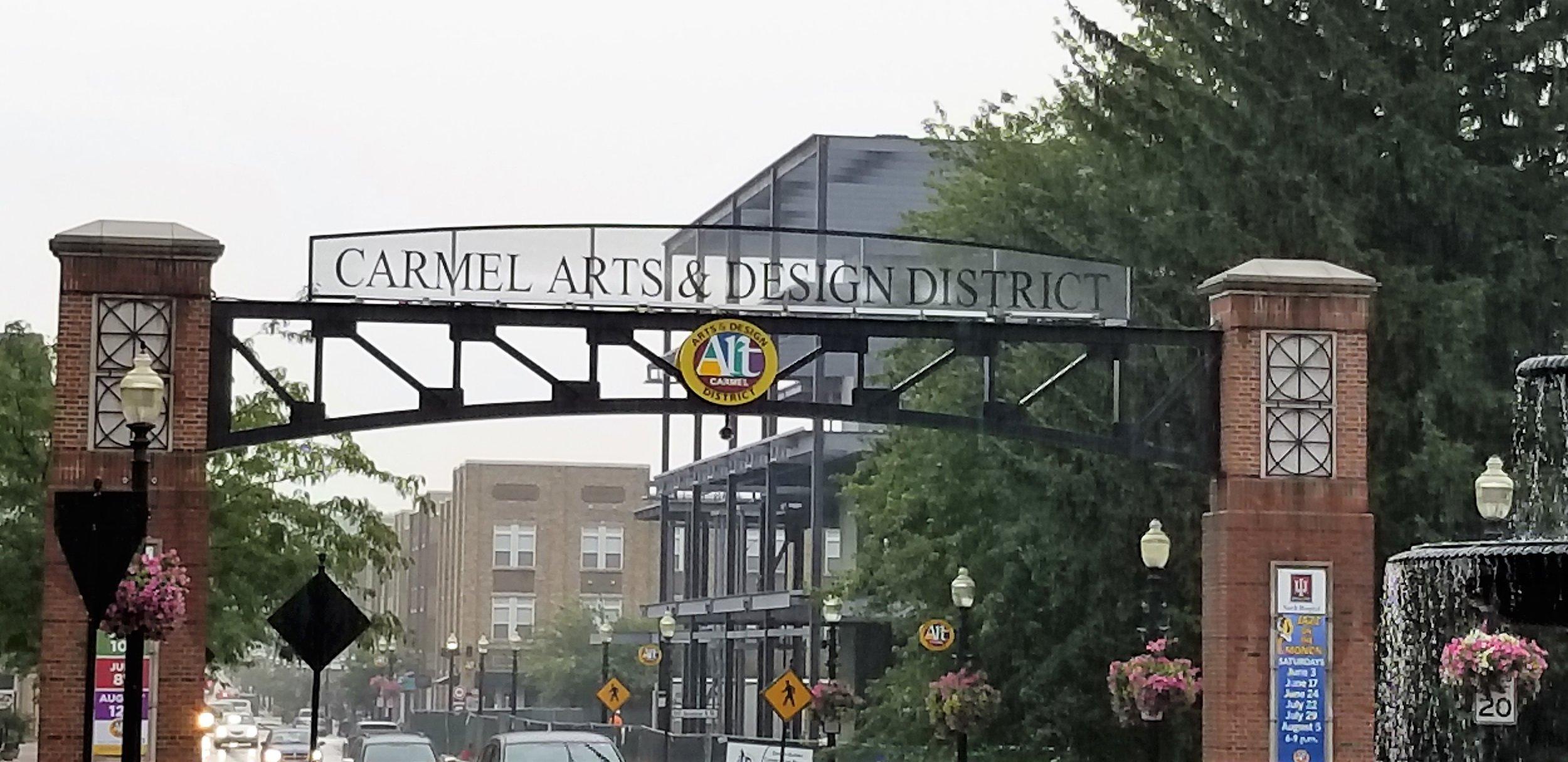Entrance to Carmel's Arts & Design District.
