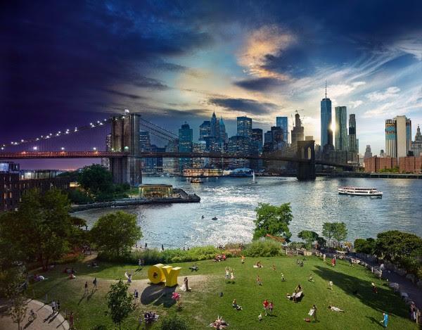 Stephen Wilkes: Day to Night, Brooklyn Bridge, New York  2016.Archival C-Print