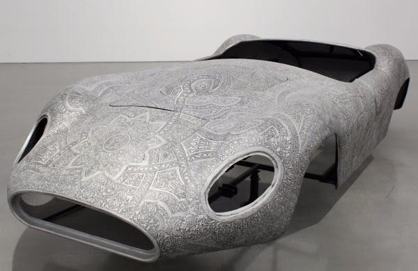 """""""Maserati"""" , 2012 / Aluminium repoussé / Embossed aluminium 80 x 450 x 180 cm / 31 1/2 x 177 3/16 x 70 7/8 in Unique by Wim Delvoye"""