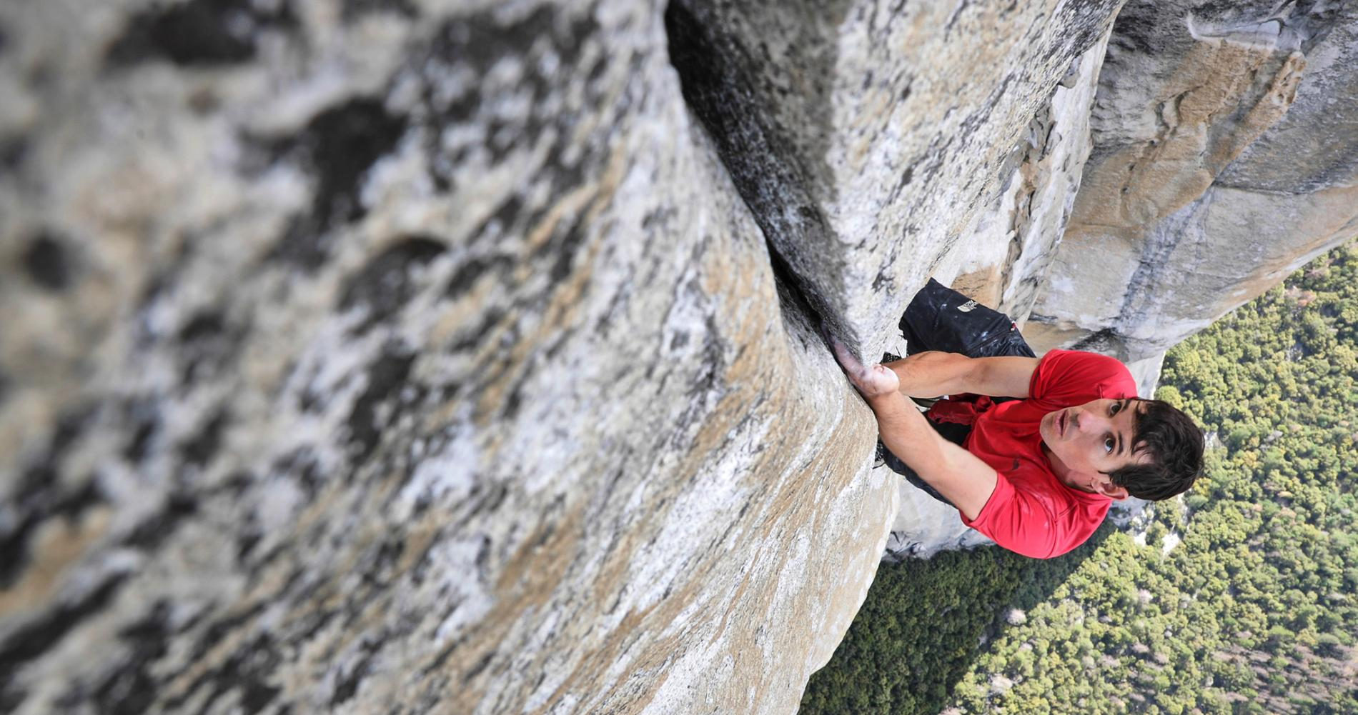 Alex Honnold recognized as one of the world's best climbers, was the first to free solo climb (i.e.without ropes), Yosemite's El Capitan.