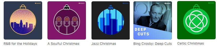 Apple Music Holiday Playlists (more available)