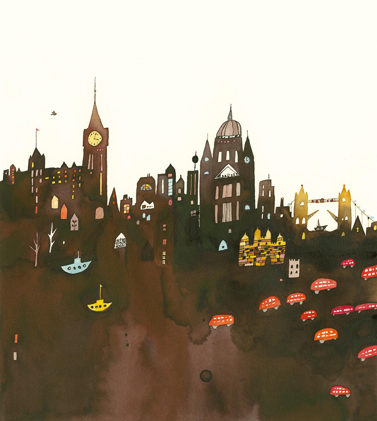 Nomoco's Gentle Illustrations. Pictured here: London, UK.