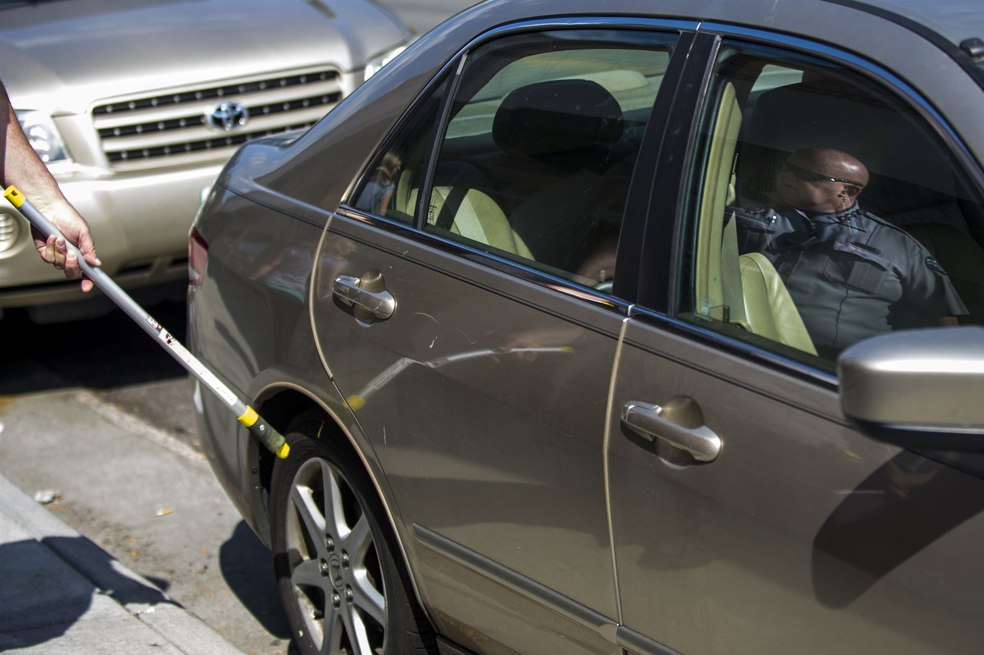 It's no longer legal to chalk your tires for parking fines in some states.