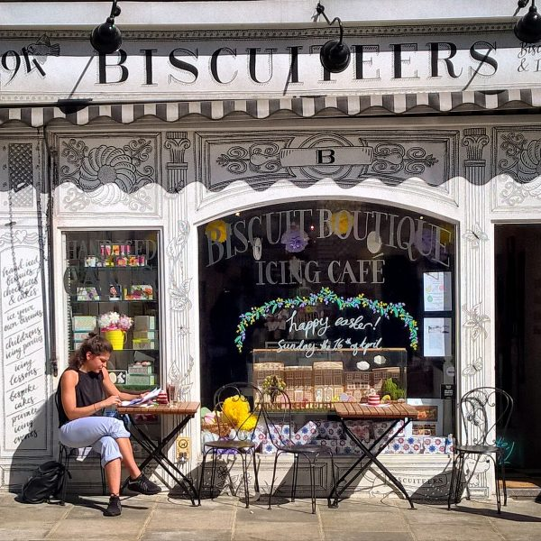 Biscuiteers Icing Cafe in Notting Hill, London.