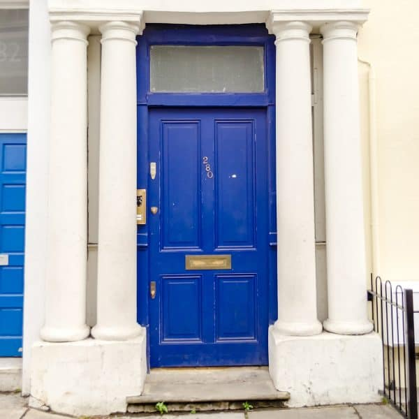 The blue door from the film Notting Hill which starred Hugh Grant.