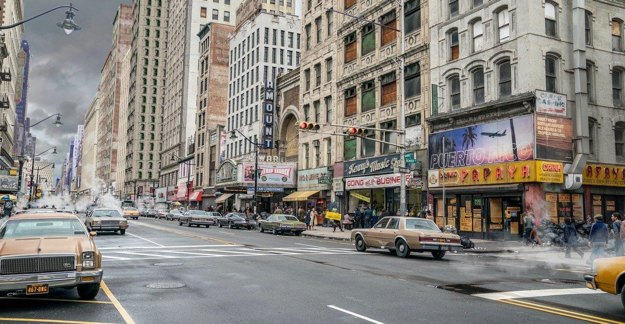 New York in the Joker's world.