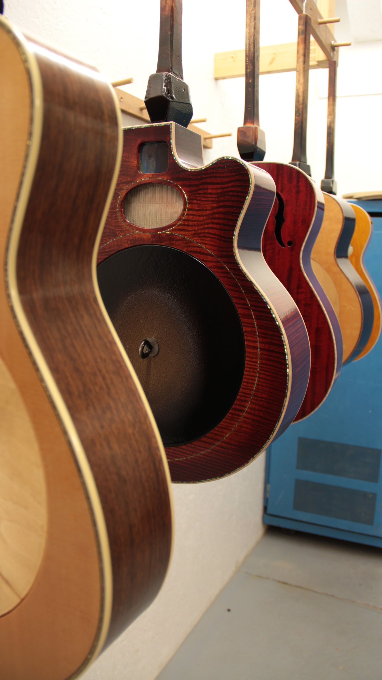 Guitars in finishing