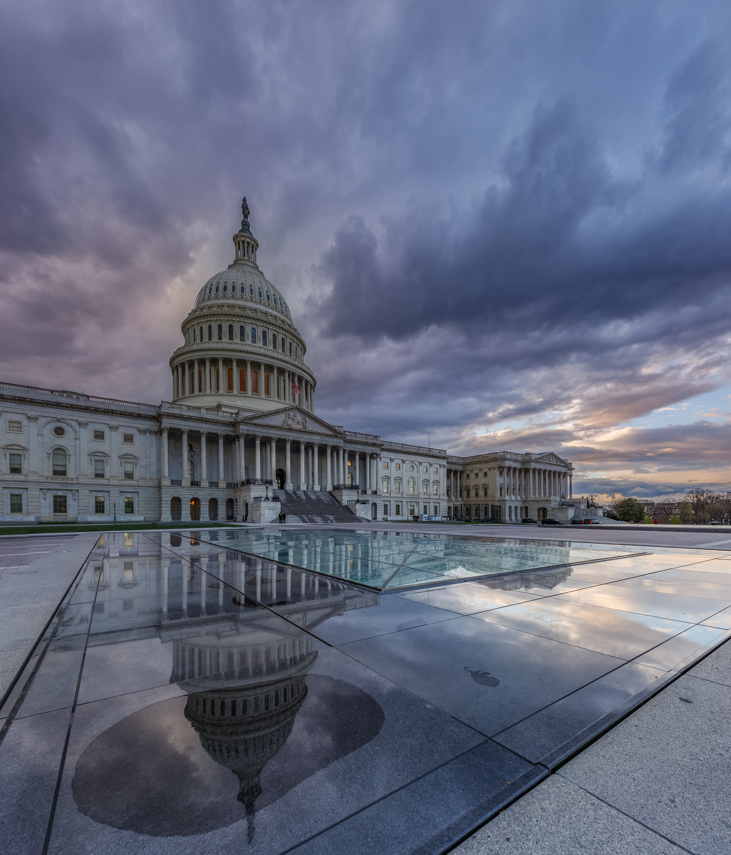 The Capitol as a storm moves in
