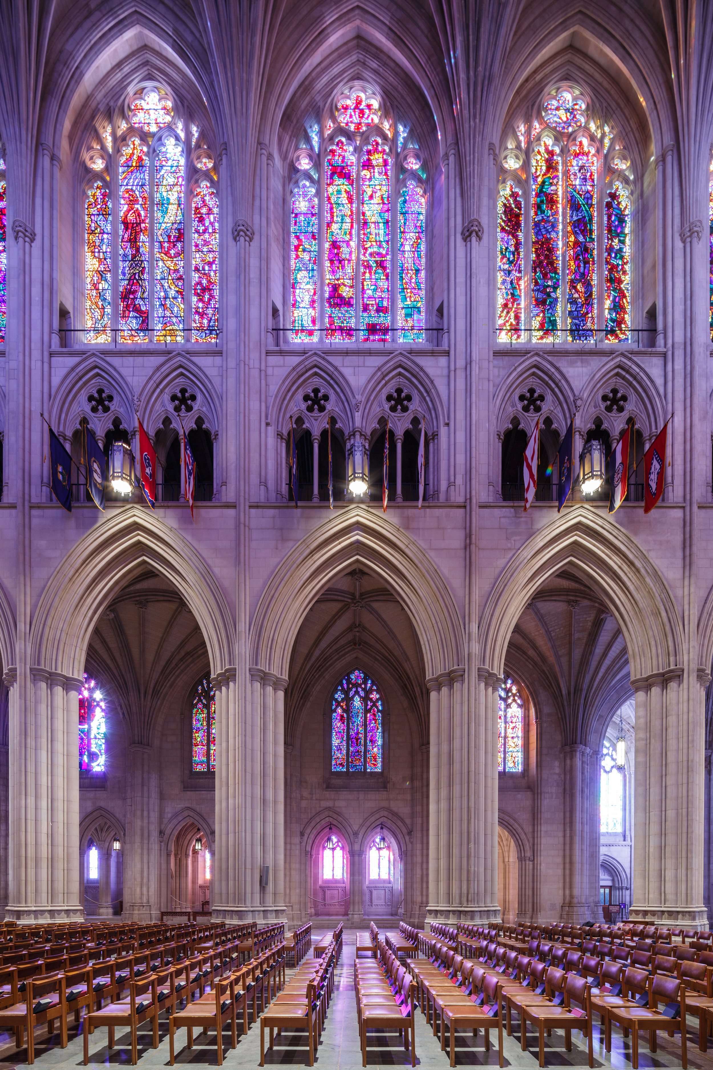 The nave of the National Cathedral