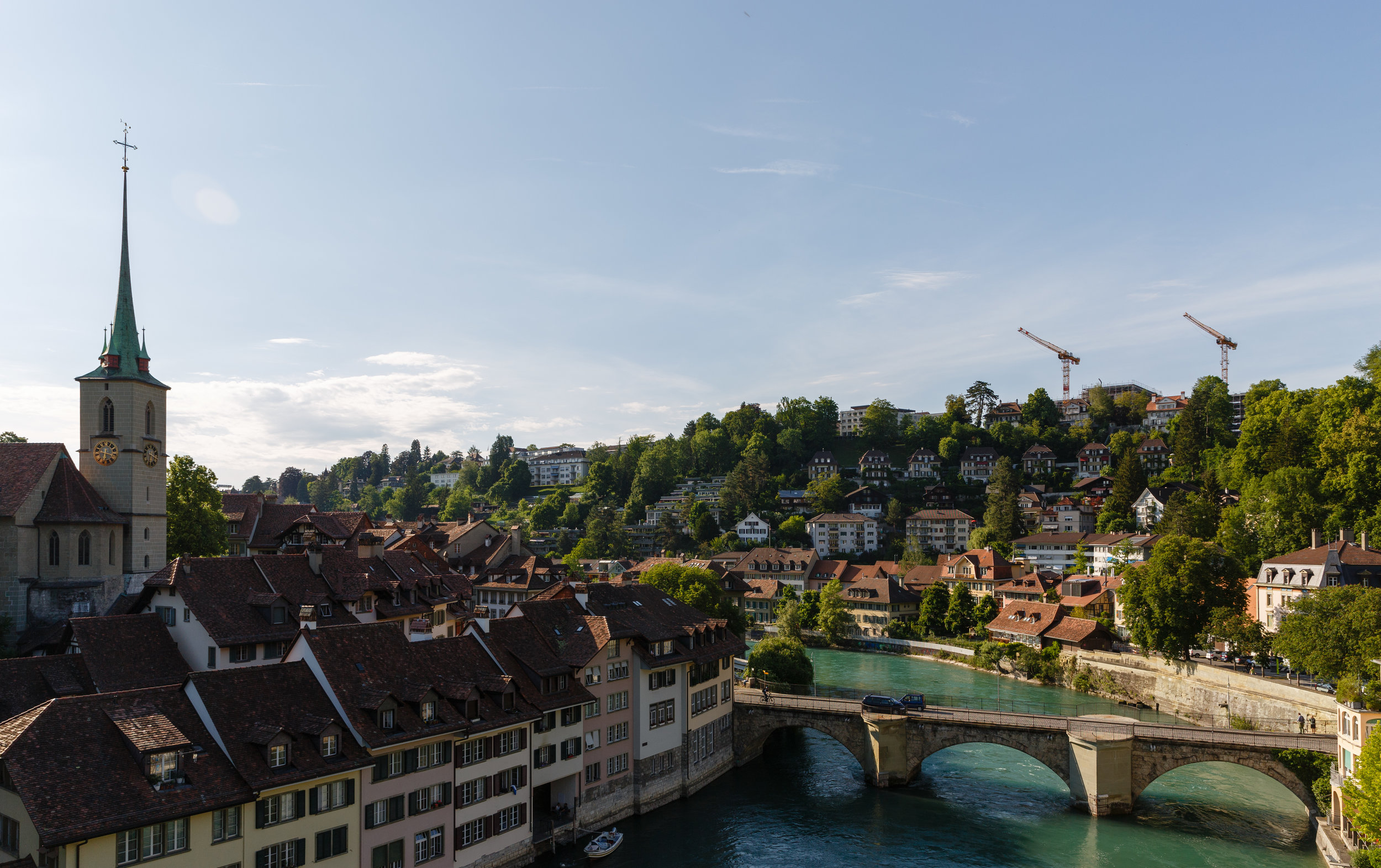 Overlooking Bern and the Aare River