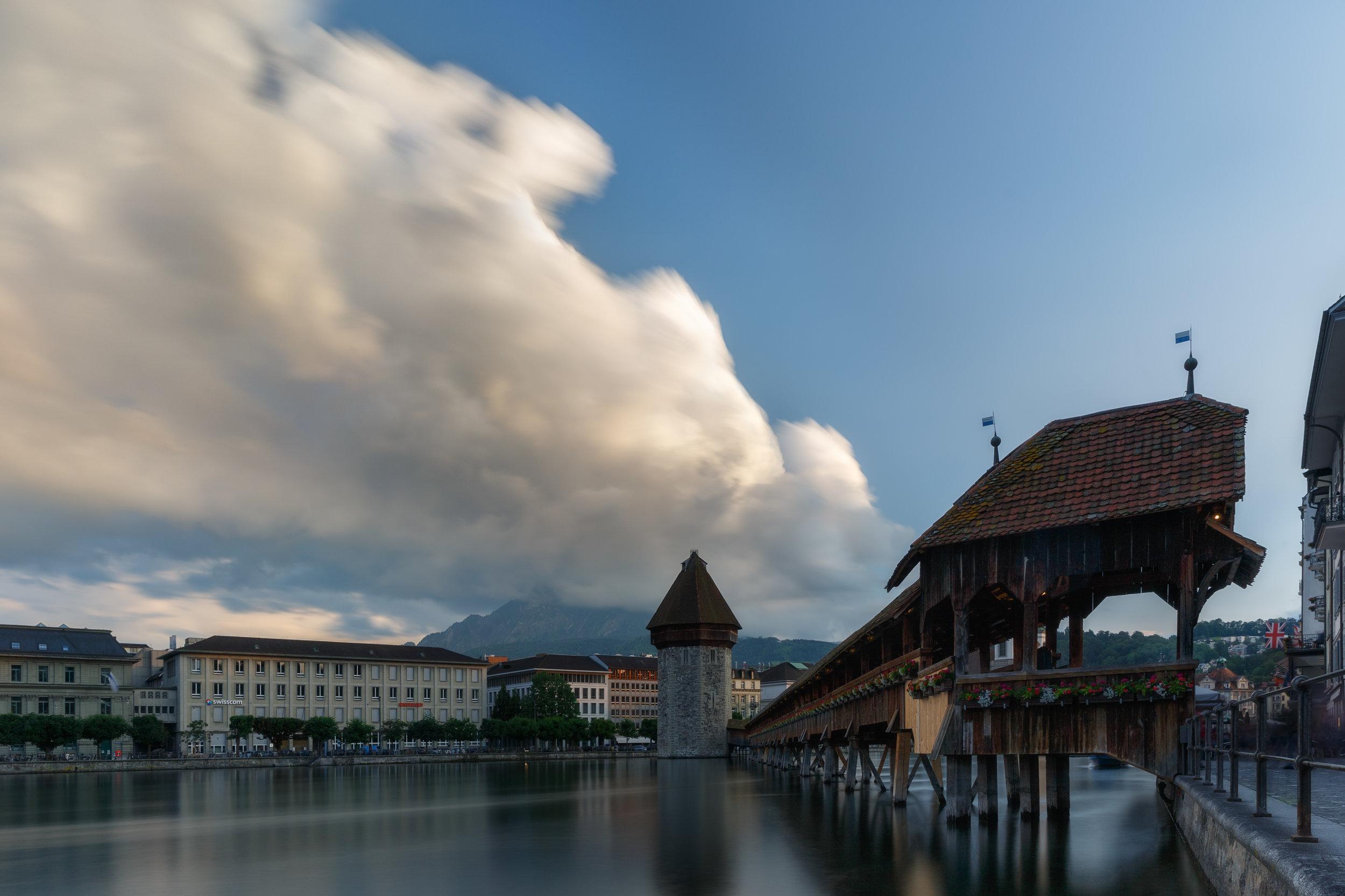 Summer storms over Lucerne