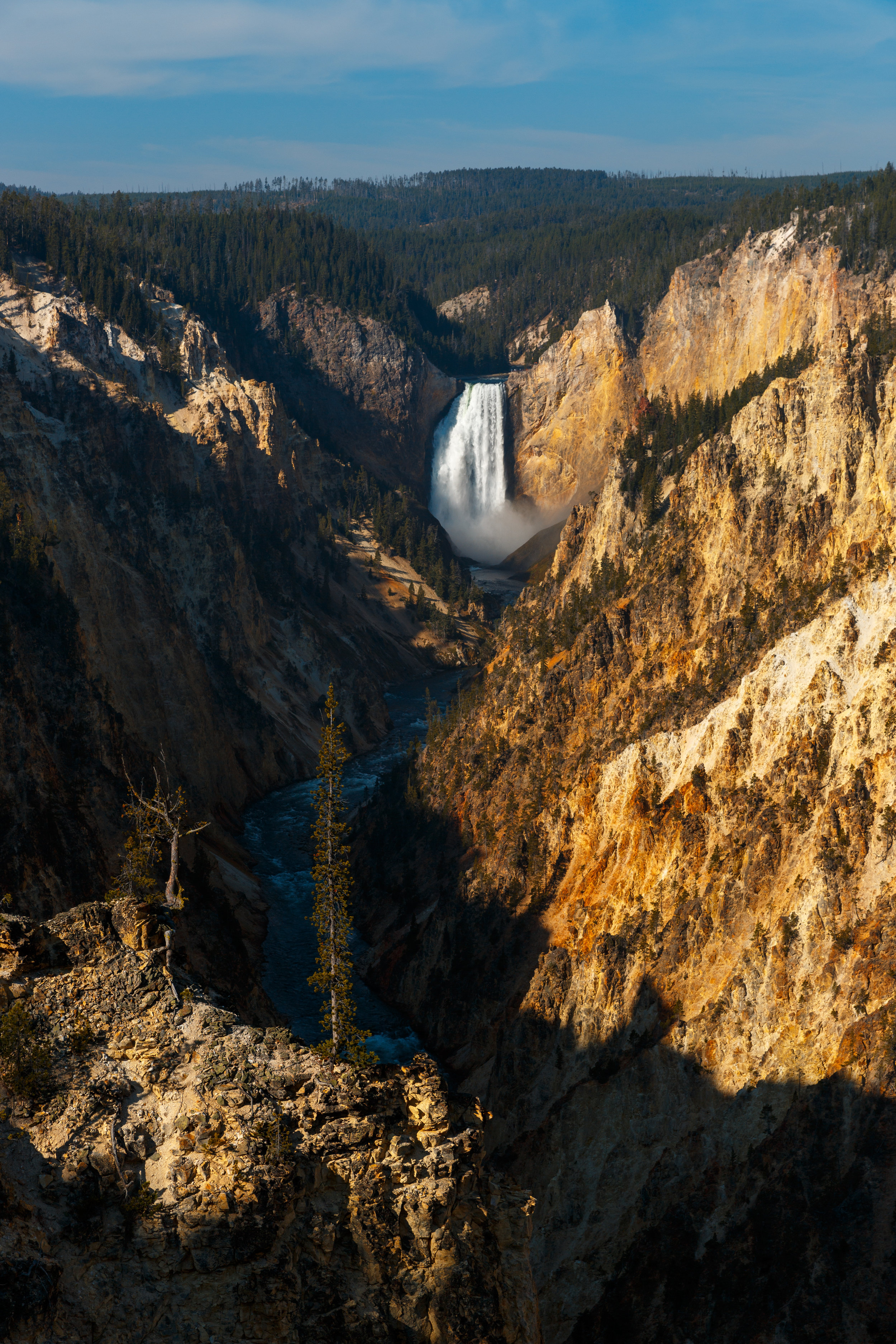 Upper Yellowstone Falls in the Grand Canyon of Yellowstone