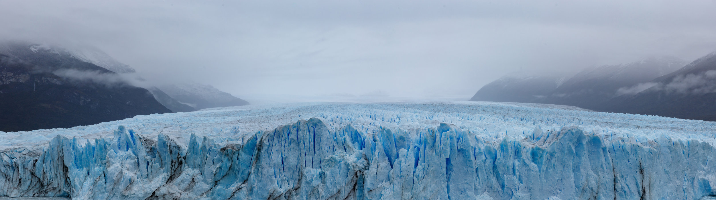 The 5km wide glacier squeezing through the mountains