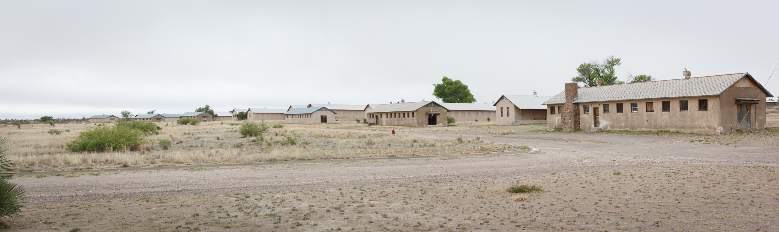 The barracks buildings of the former Fort D.A. Russell