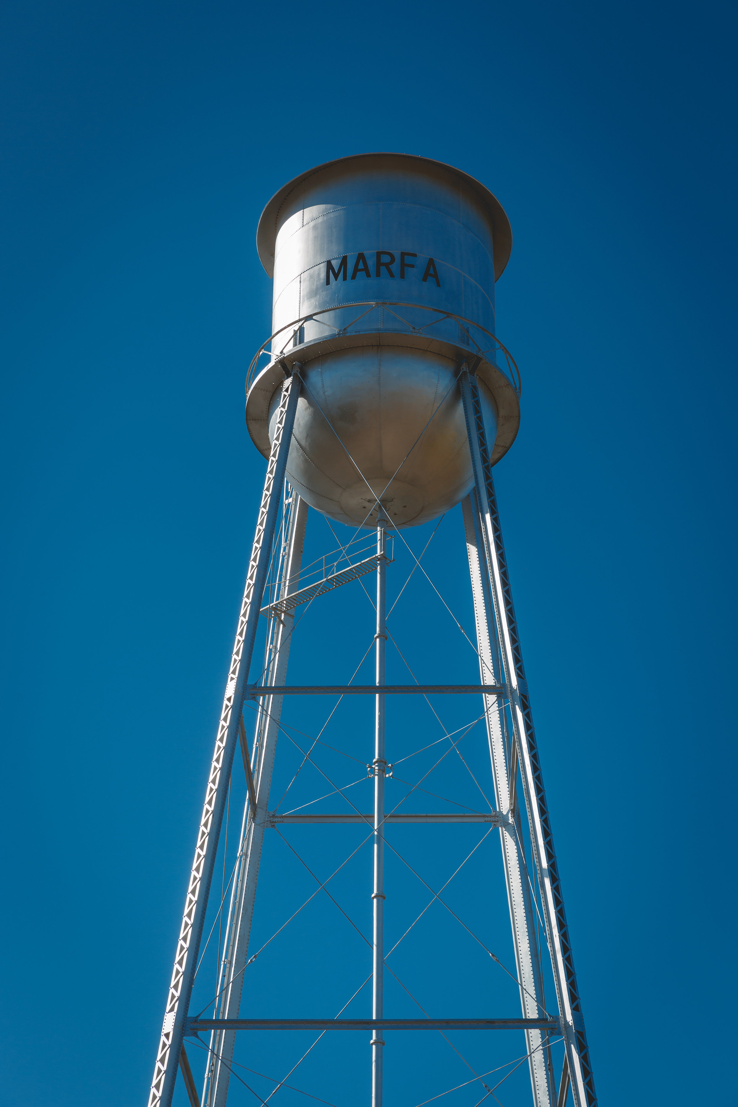 The water tower in Marfa, Texas