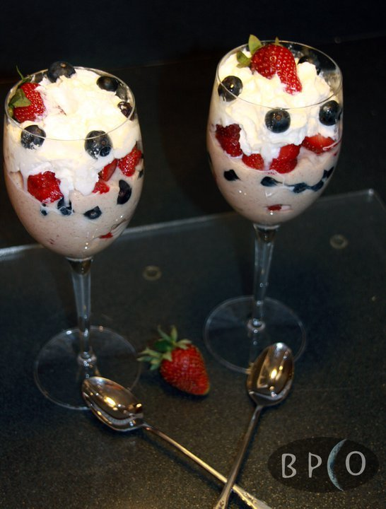 Ginger Berry Yogurt Parfait