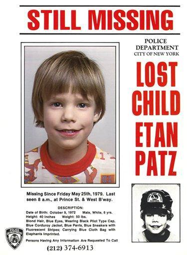 Etan Patz Missing Child Poster