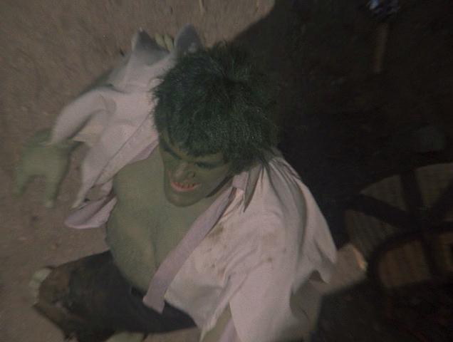 Richard Kiel in the pilot episode of The Incredible Hulk 1977