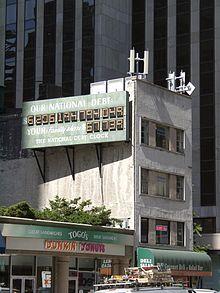 The National Debt Clock at original location