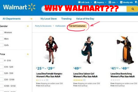 Walmart Fat Shaming Costumes