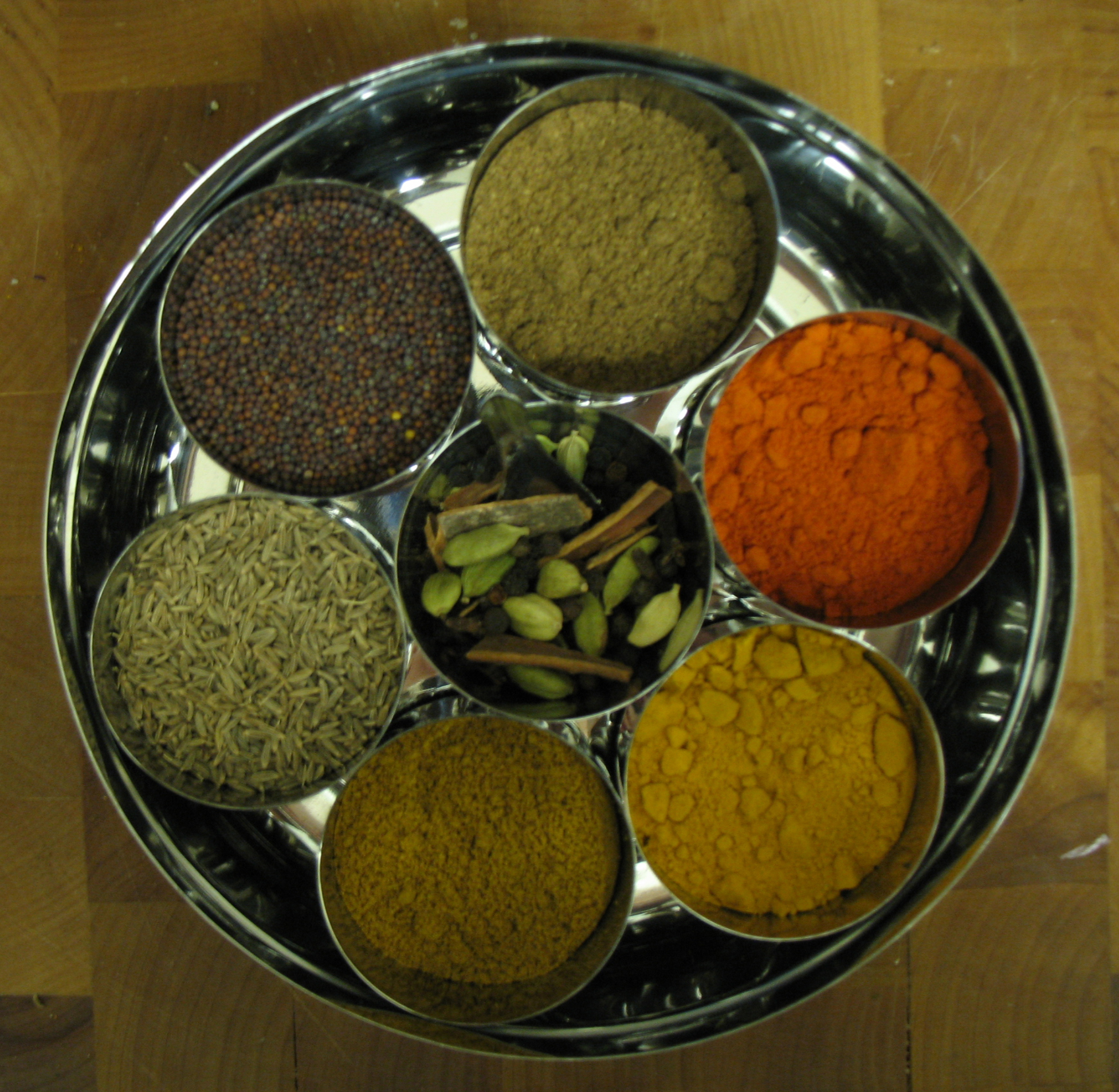 Herbs and Spices in containers