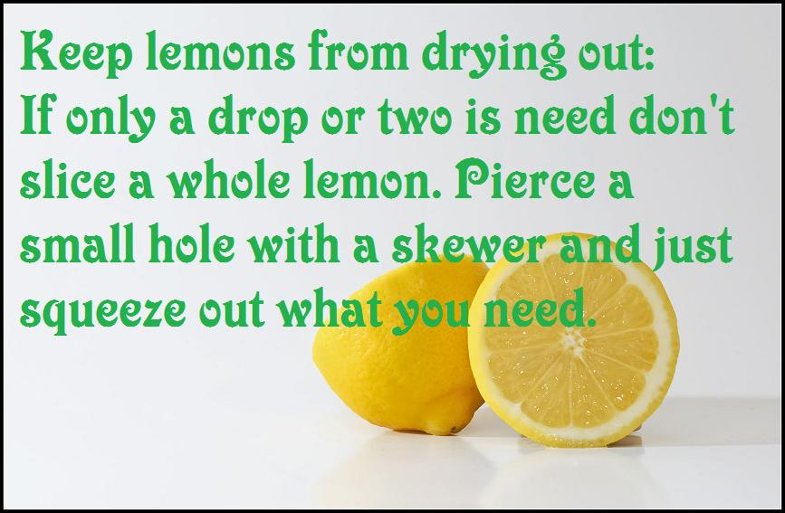 Keep Lemons from drying out