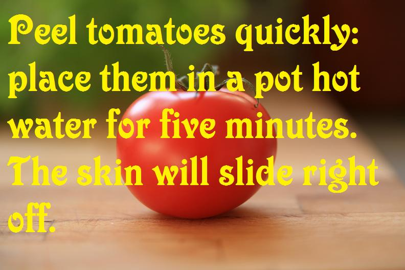 Easily peel tomatoes