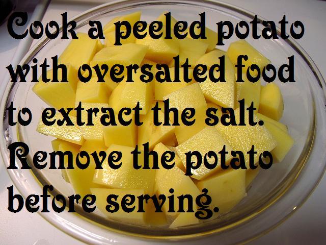Fix Salty Food